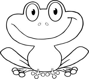 Printable Cartoon Cute Frog Character For Kids Frog Drawing