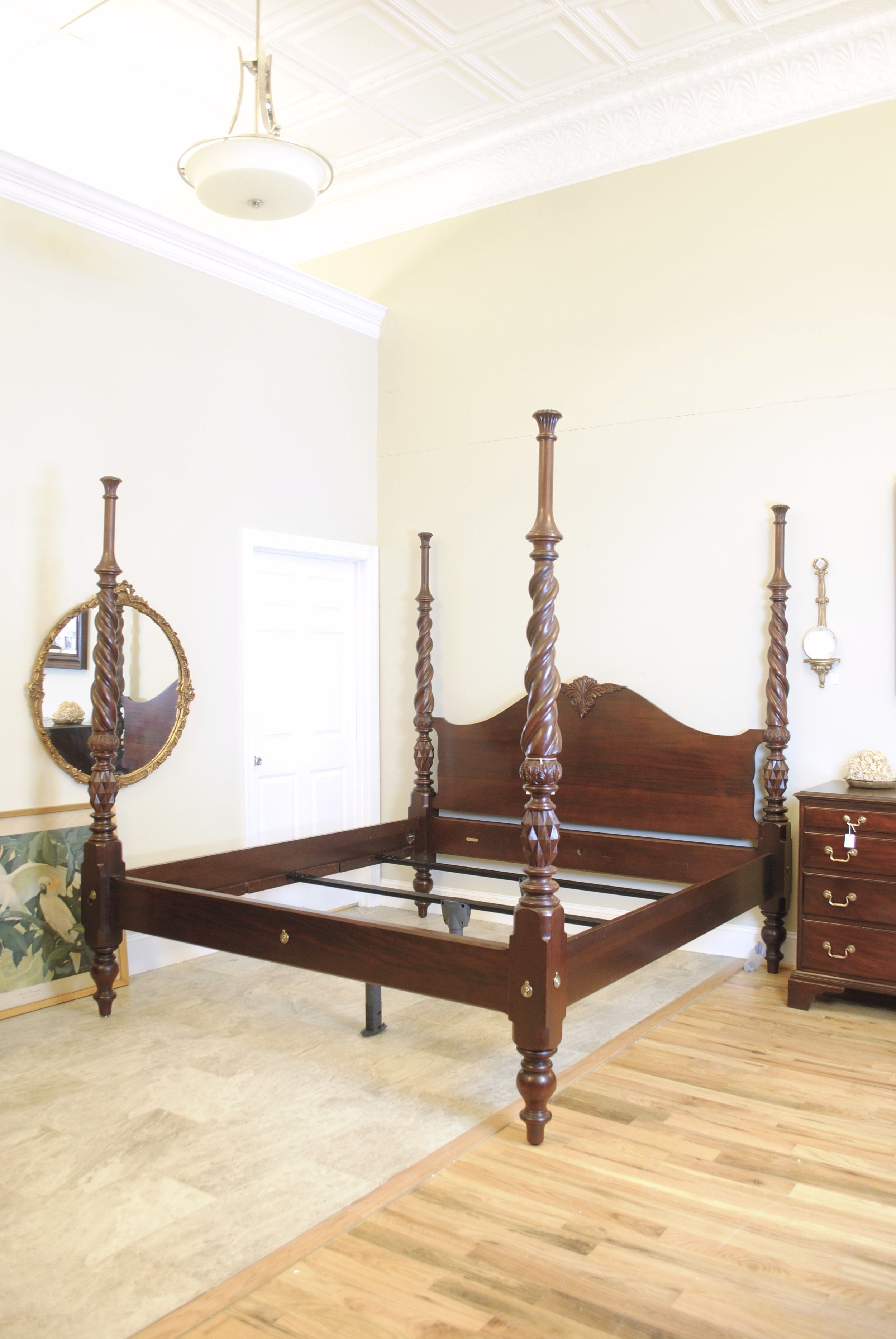 Craftique Mahogany King Size Four Poster Bed Prettyruggeddesigns
