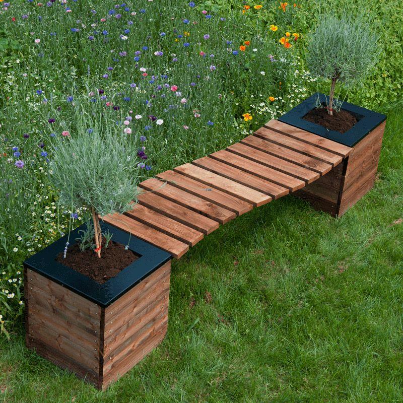 Banc de jardin en S + 2 bacs à fleurs COLLECTORS -SELEKT - Booa ...