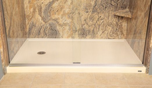 Low Threshold Shower Base, Bathroom remodel, Re-Bath, Marble ...