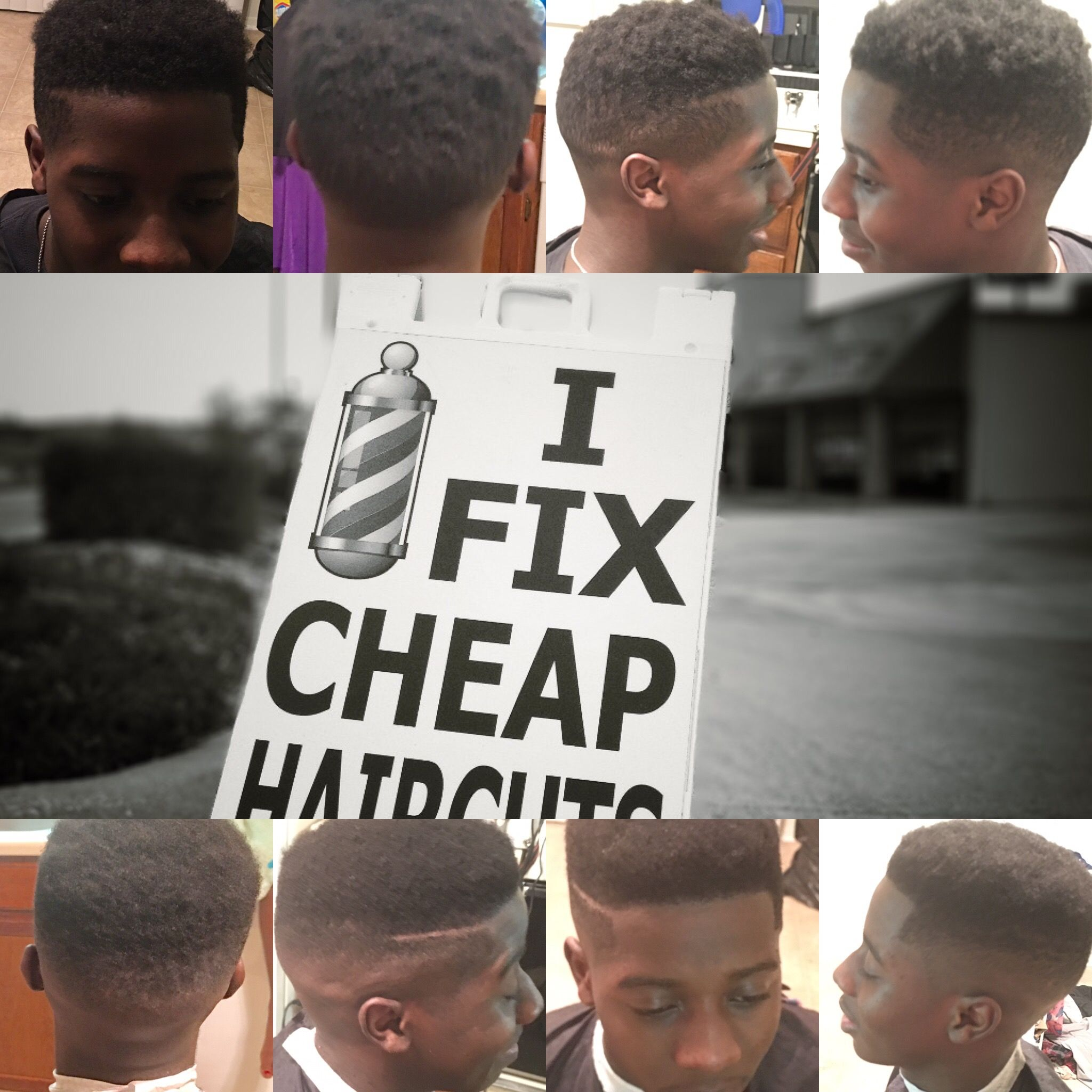 The Top Four Are Pictures Of A Haircut Done By Another Barber On