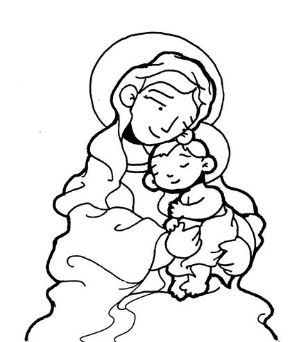 SANTA MARÍA, MADRE DE DIOS para pintar. | ALFRONBRA | Pinterest ...
