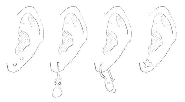 Earrings In Drawn Manga Jpg 600 331 Manga Tutorial Drawings Manga Drawing