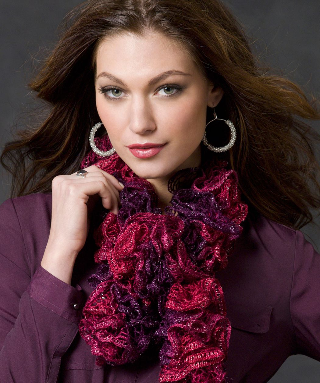 Saucy swirls scarf arts and crafts pinterest scarves scarf red heart free patterns bankloansurffo Images
