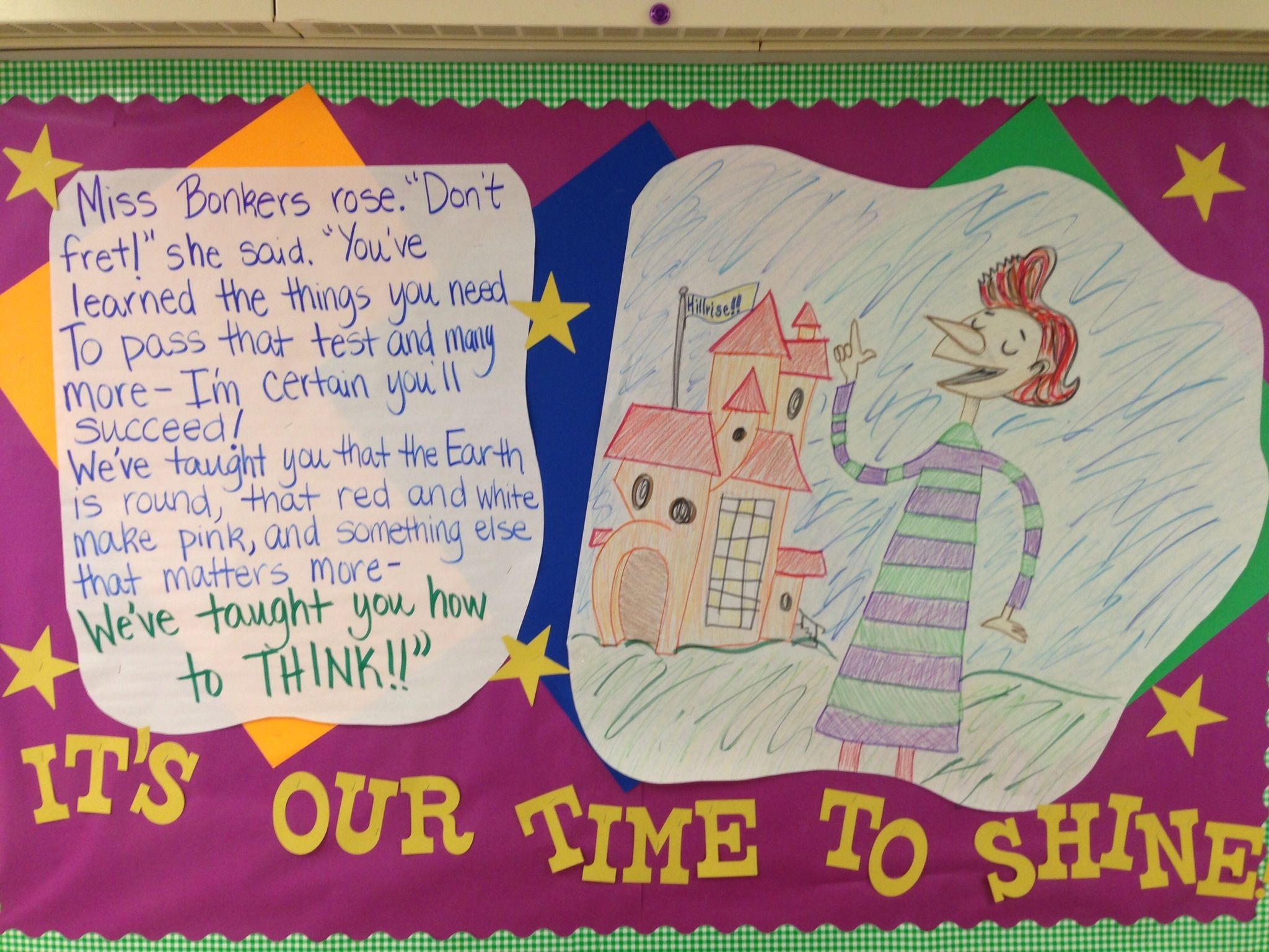 Testing quotes for elementary students - Testing Bulletin Board Motivation From Miss Bonkers Hooray For Diffendoofer Day
