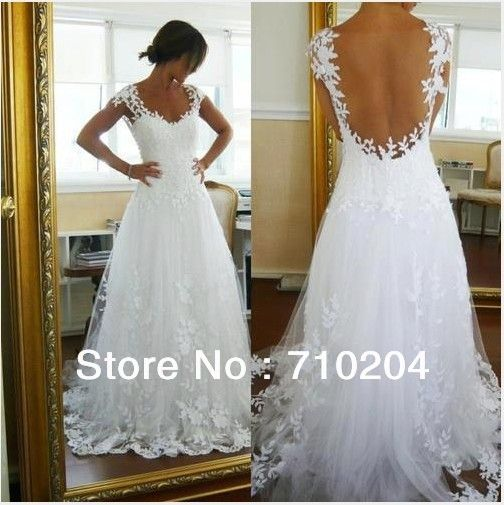 Superior Latest Designer Brazil Style White Lace Sexy Backless Wedding Dresses .