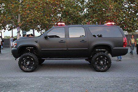 Suburban Flat Black Lifted Chevy Trucks Cars Trucks Big Trucks