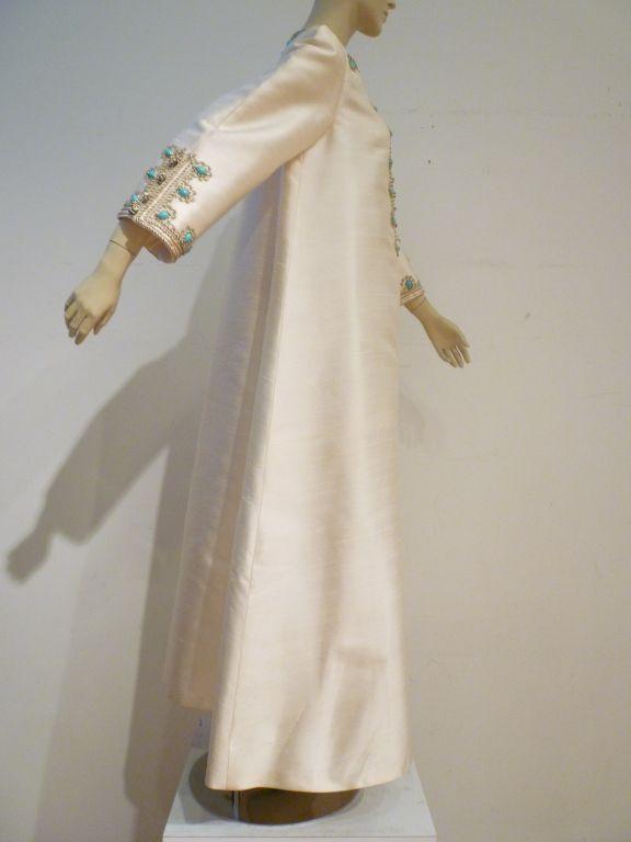 78fbc9e7a3 I. Magnin 60s Silk Embroidered Caftan