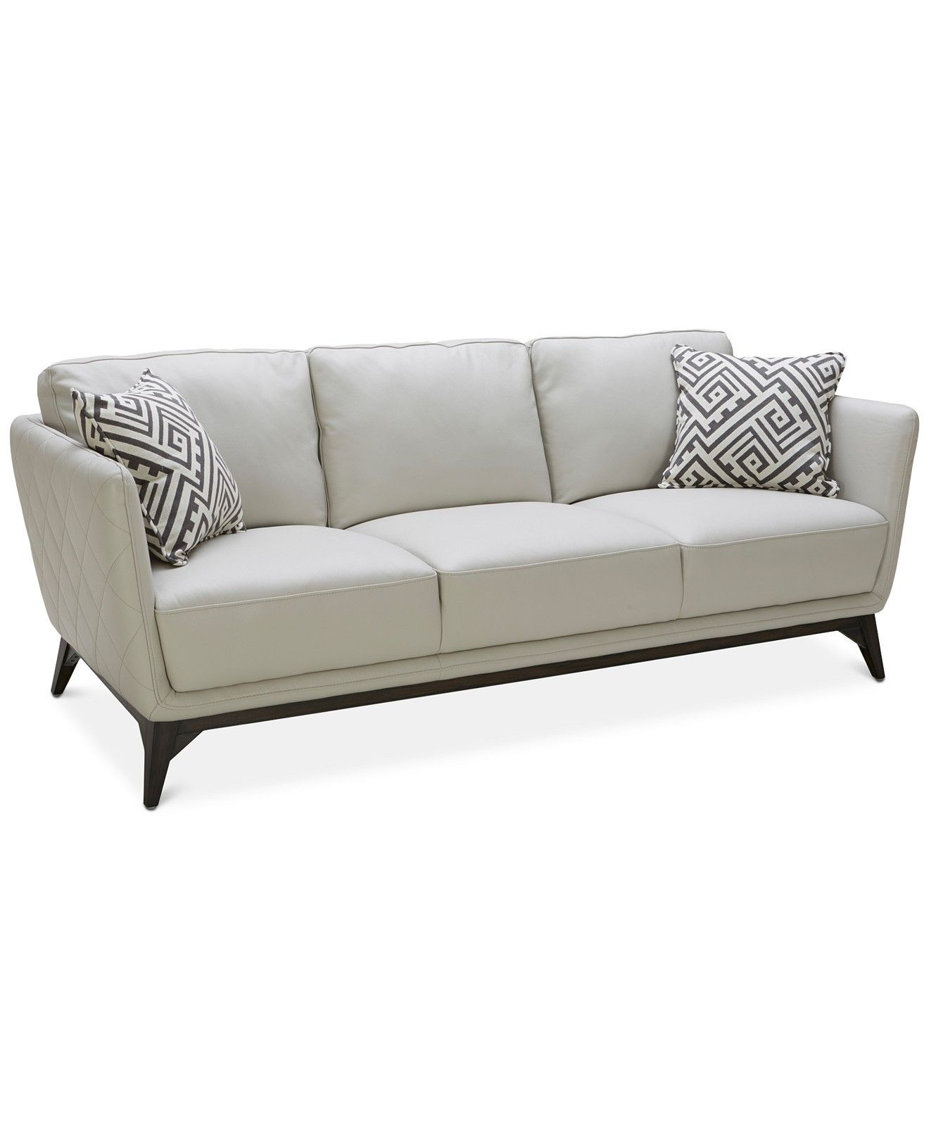Kourtney Quilted Side Leather Sofa   Couches U0026 Sofas   Furniture   Macyu0027s  $899 ...