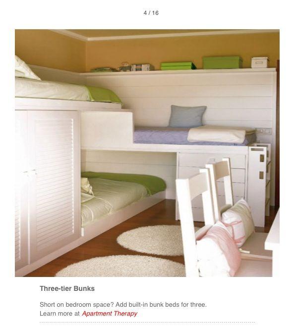 Best 3 Tier Bunk Beds Small Space Bedroom Triple Bunk Bed 400 x 300