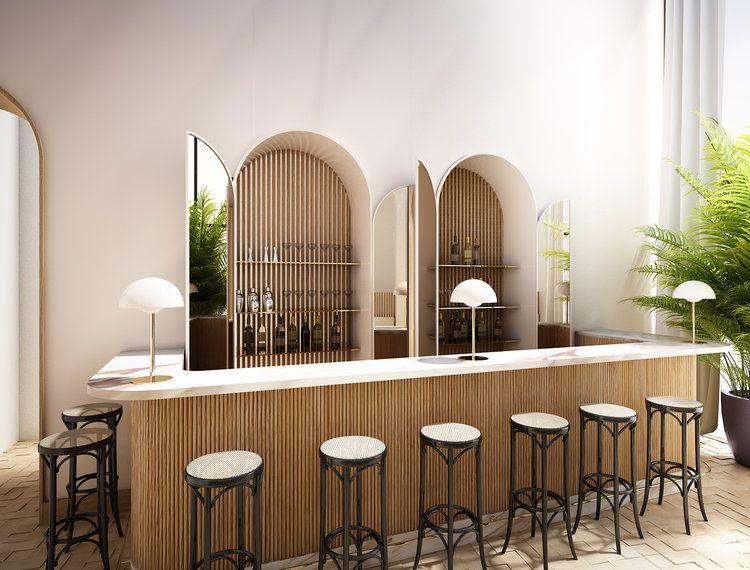 Light Natural Elements With Added Modern Twists Interieur De Restaurant Design Interieur Restaurant Design Bar Restaurant