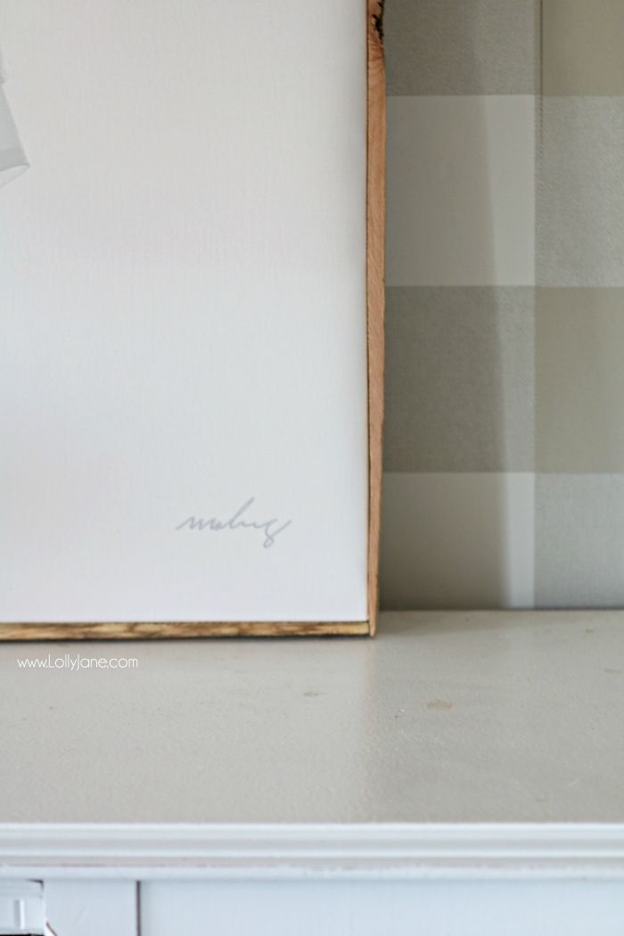 DIY Framed Canvas - Frame An Oversized Canvas In Less Than 20 Min ...
