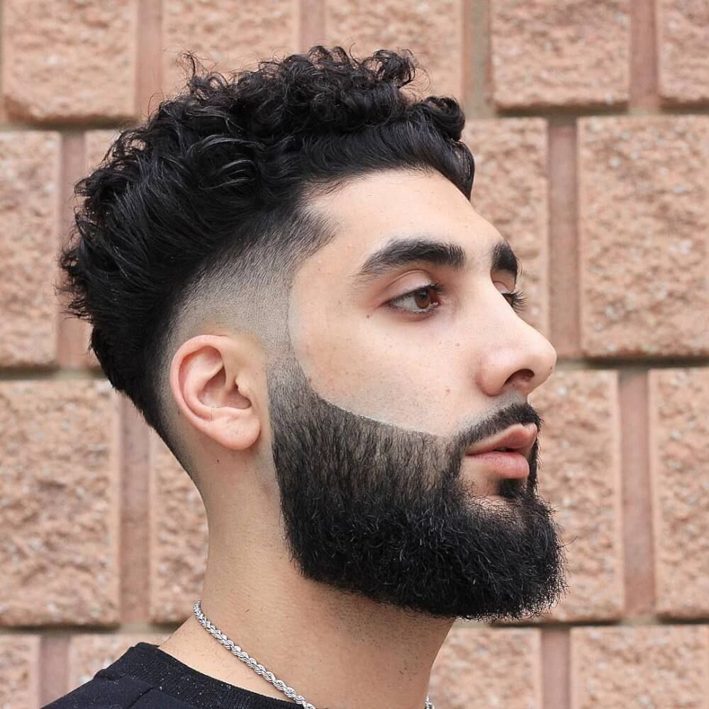 Naturally Curly With A Mid Fade Thick Hair Styles Professional Hairstyles Mens Hairstyles Thick Hair