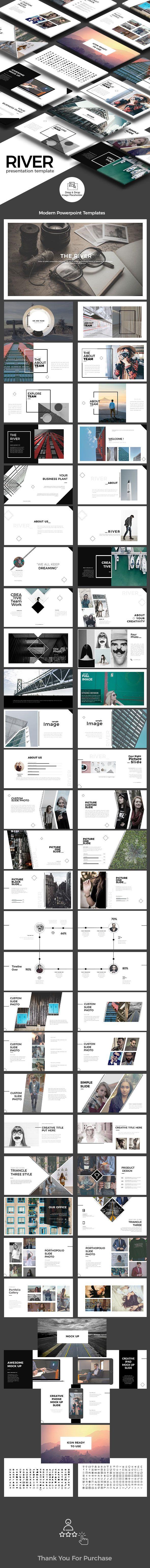 River presentation template brochuras apresentao e fundo river presentation template toneelgroepblik Choice Image