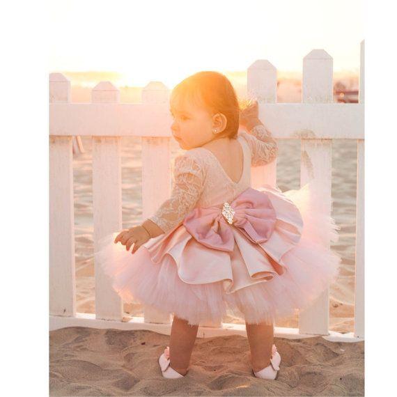ELLEN DRESS - Flower Girl Dress - Lace Dress - Tea Party Dress - Big ...