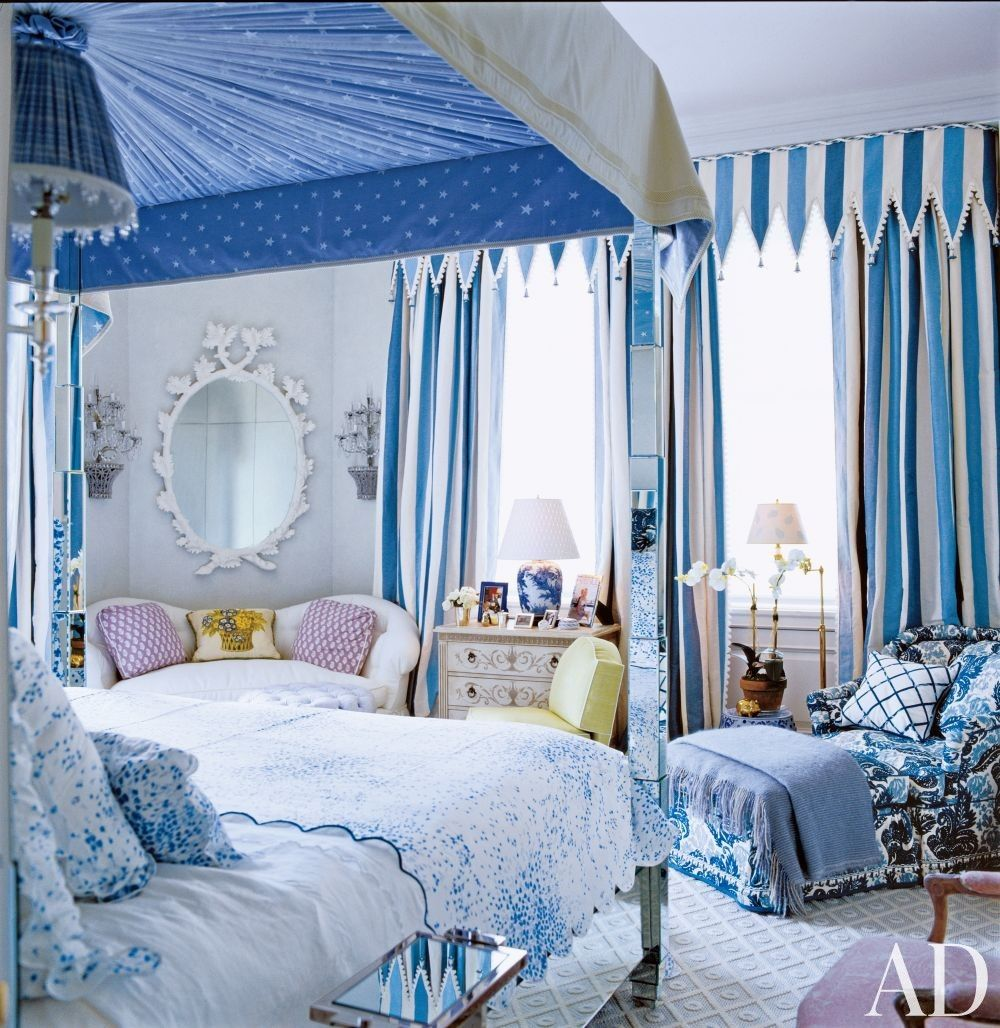 traditional blue bedroom designs. Home Decor - Decorating Ideas And House Design   Architectural Digest Traditional Blue Bedroom Designs E