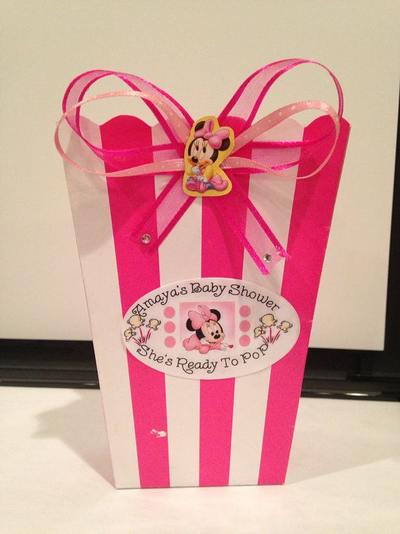 Ready To Pop Minnie Mouse Baby Shower Favor Boxes On Etsy, $22.00