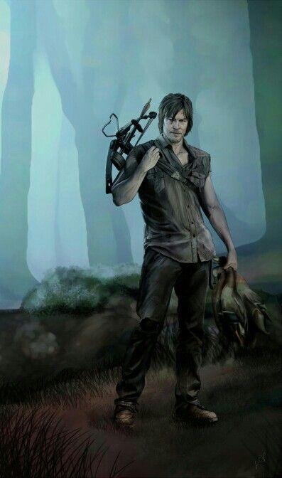 Daryl Dixon Walking Dead Art Walking Dead Fan Art The Walking Dead