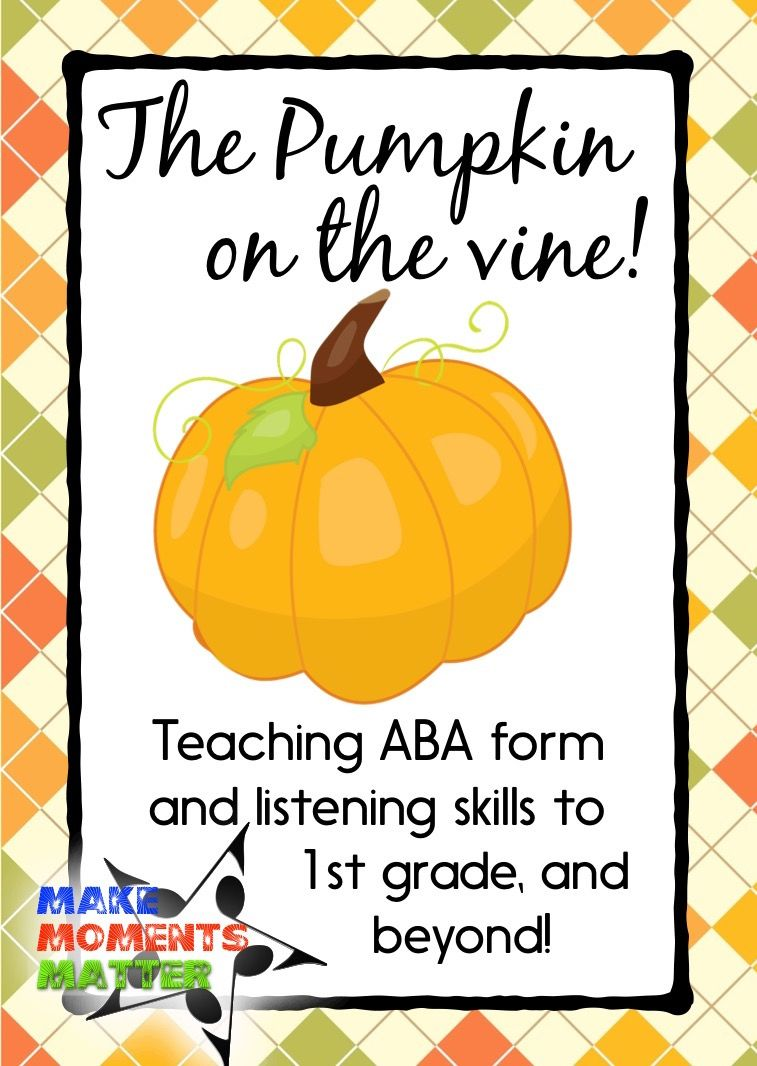 A fun song to teach ABA form! Fall and harvest themed (not ...