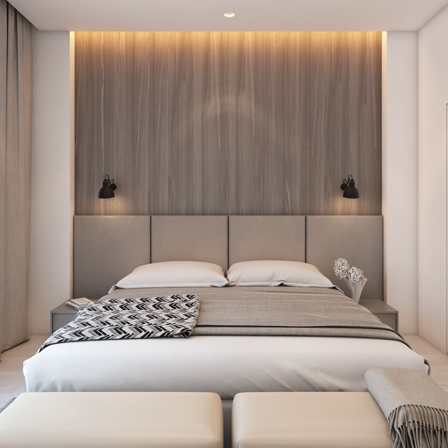 A simple modern apartment design with pastel