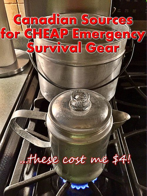 Cheap Emergency Survival Gear - The Best Canadian Sources