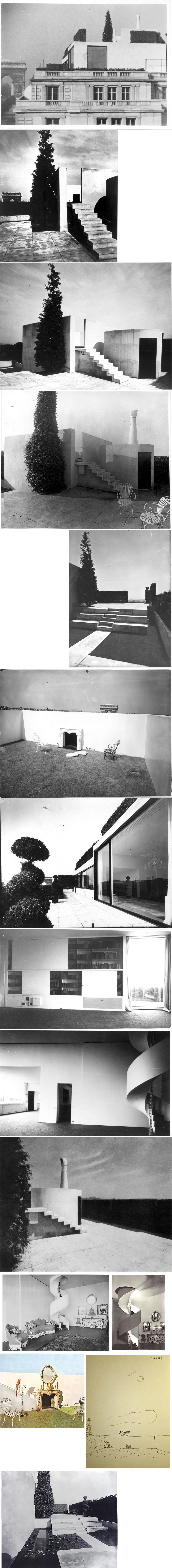 L'appartement-terrasse de Charles de Beistegui par Le Corbusier. 1929