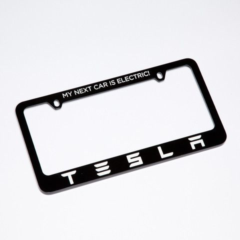Tesla License Plate Frame - \'My Next Car is Electric!\' http://shop ...