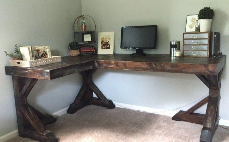 need a cheap desk for your workspace learn how to build a desk for rh pinterest com