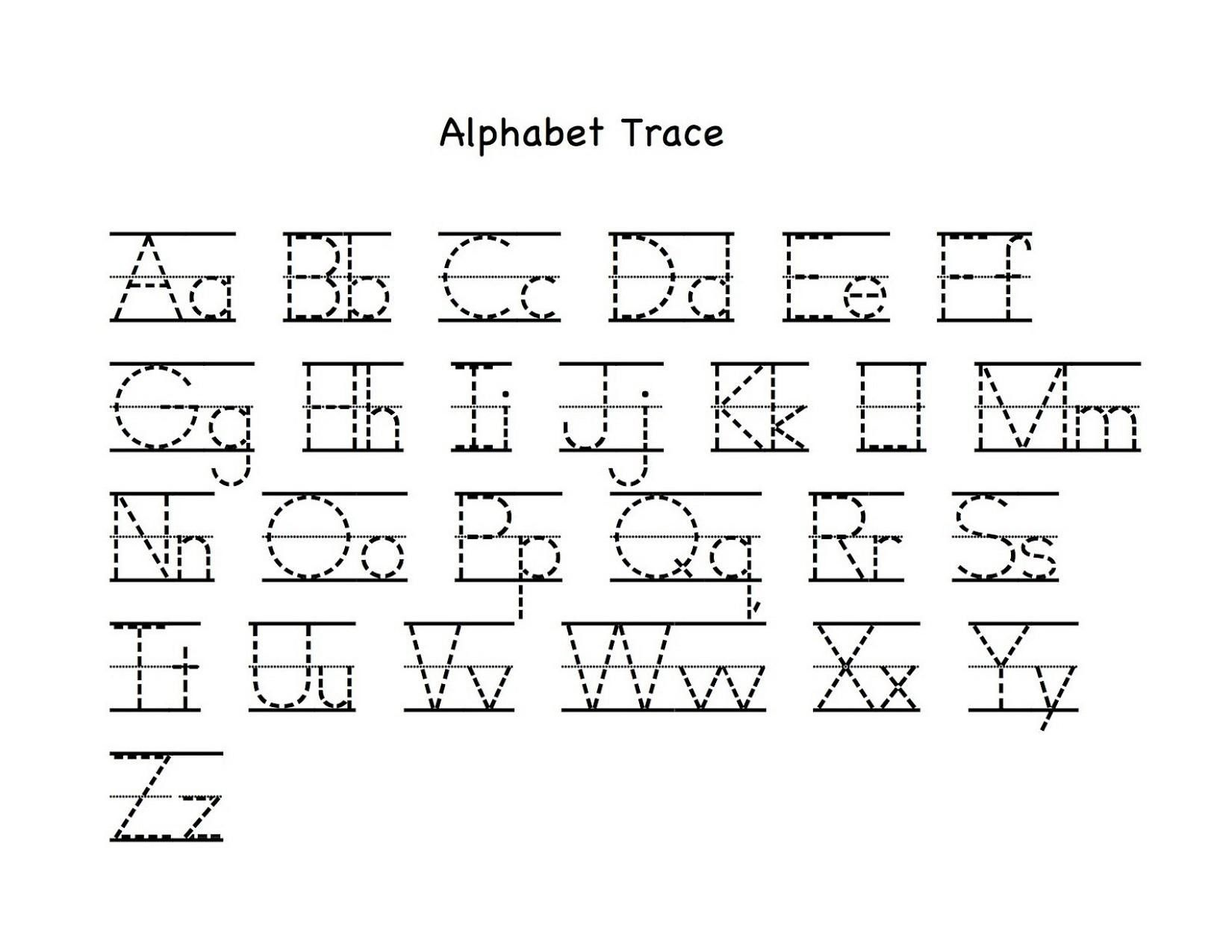Lowercase Alphabet Tracing Worksheets A Z Alphabet Worksheets Preschool Letter Tracing Printables Alphabet Tracing