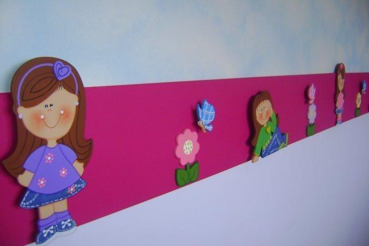 Resultado de imagen para cenefas en foami para cuarto de - Cenefas de papel infantiles ...
