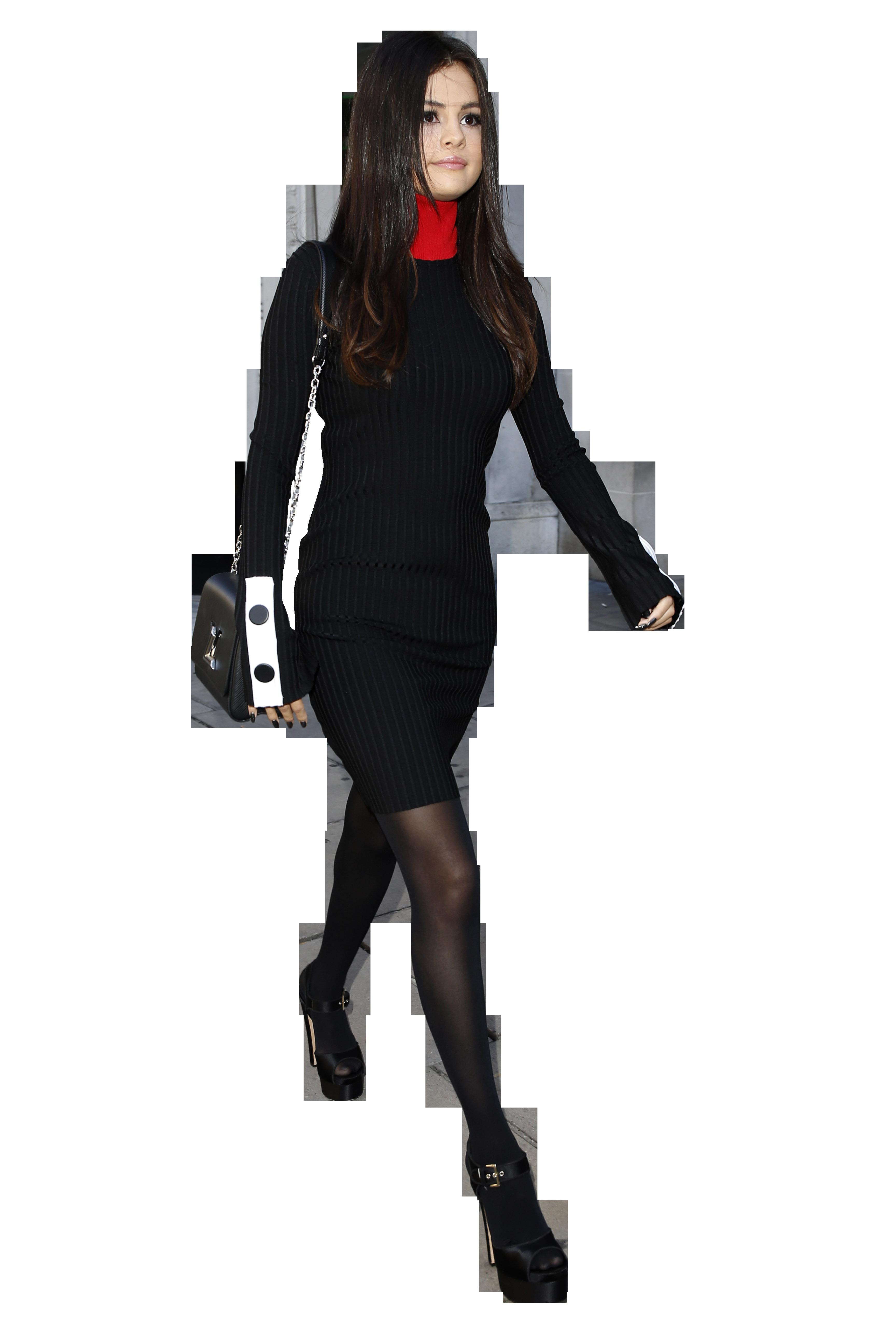 Selena Gomez Walking In Black Png Image Music Star Selena Gomez Selena