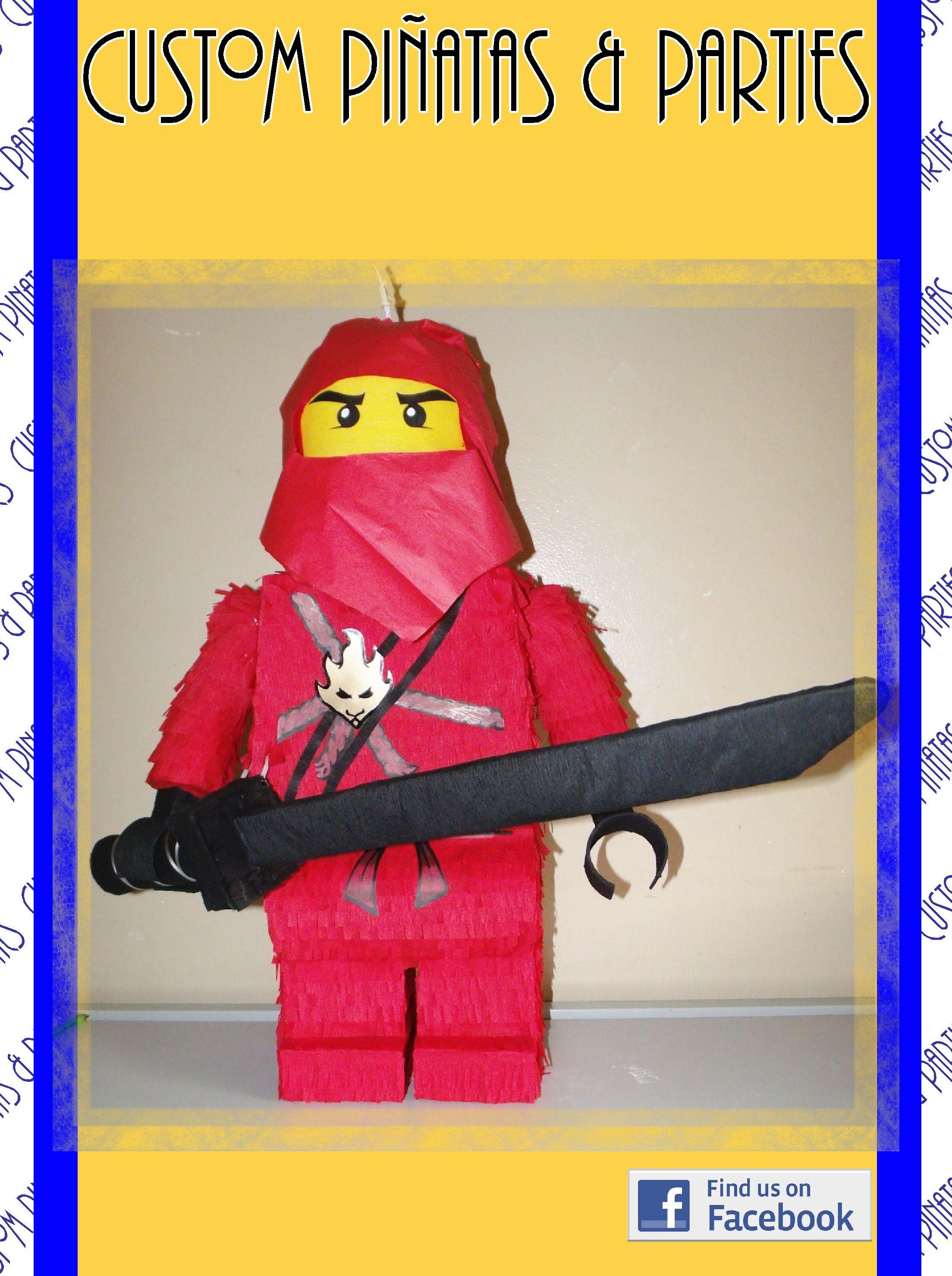 Pinata modeled after Kai from Lego Ninjago | Piñatas by Custom