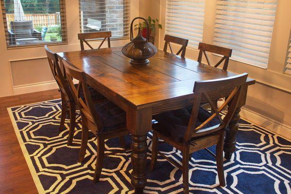 baluster turned leg table in 2019 dining room dining table rh pinterest co uk
