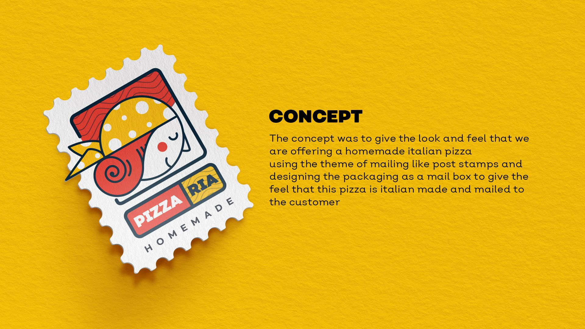Pizzaria Branding On Behance Branding Post Stamp Branding Design