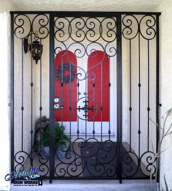 Wrought Iron Entry Gate Wrought Iron Security Doors Iron Front