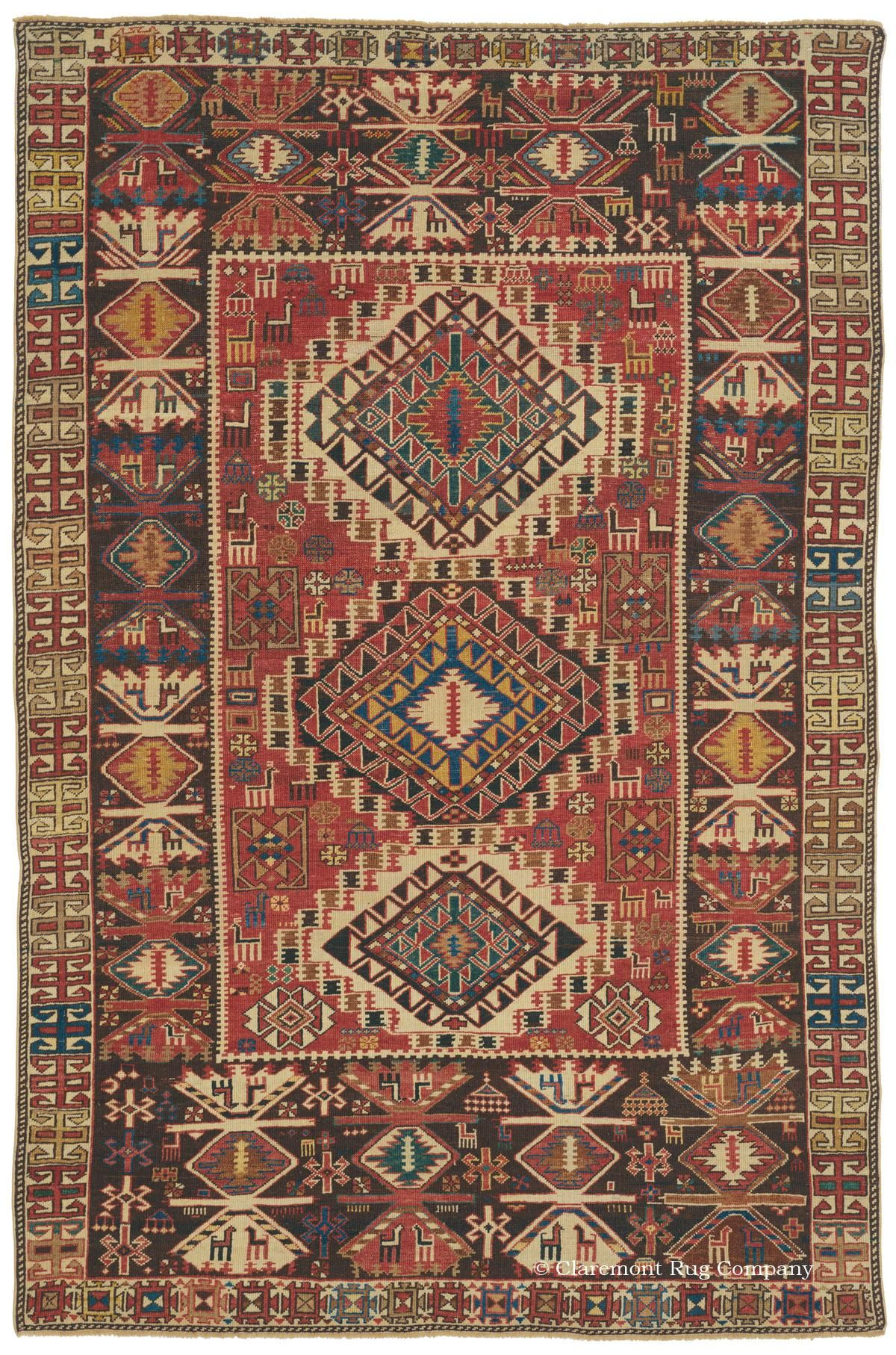Basic Overview Of Antique Collectible Caucasian Rugs And Carpets Claremont Rug Company Rugs Rugs On Carpet