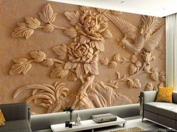 Feather Wallpapers Decorative Wallpapers Customized Wallpaper Price In India Best Customized Wallpaper D In 2020 Wall Art Living Room 3d Wall Murals Wall Murals
