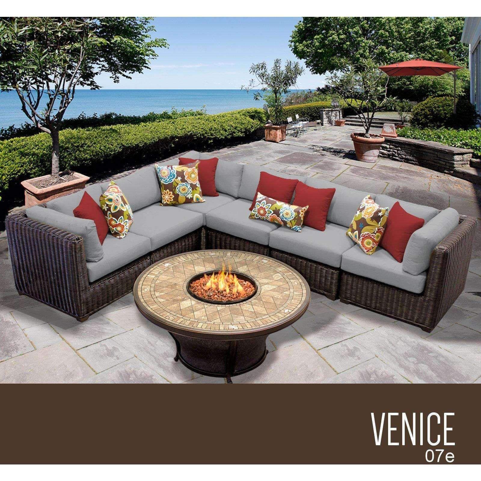 venice 7 piece outdoor wicker patio furniture set 07e products rh pinterest nz