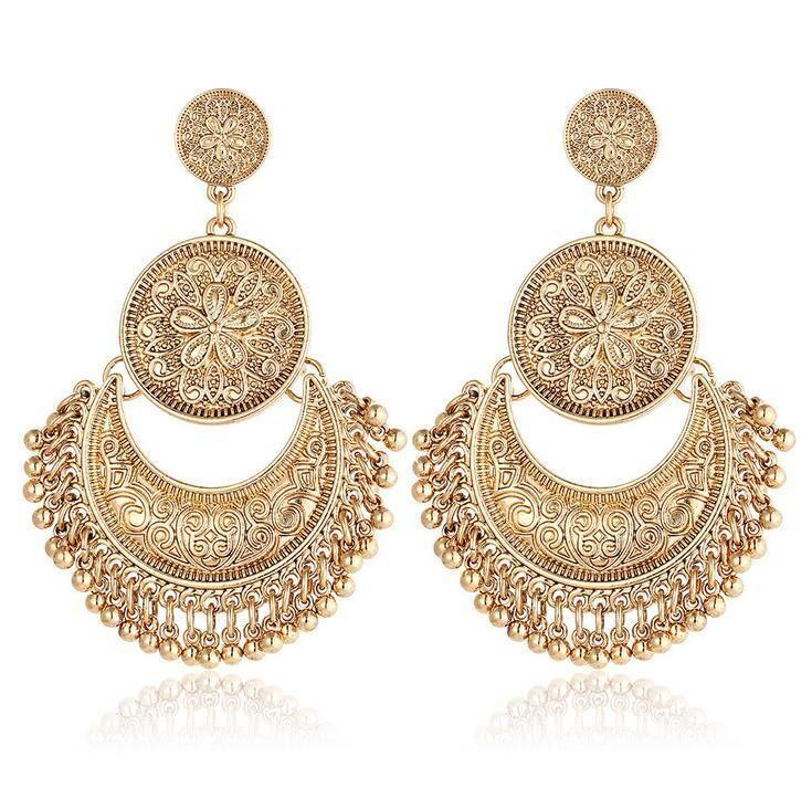 Fashion Women Rhinestone Elegant Drop Dangle Ear Stud Earrings Jewelry Bohemia