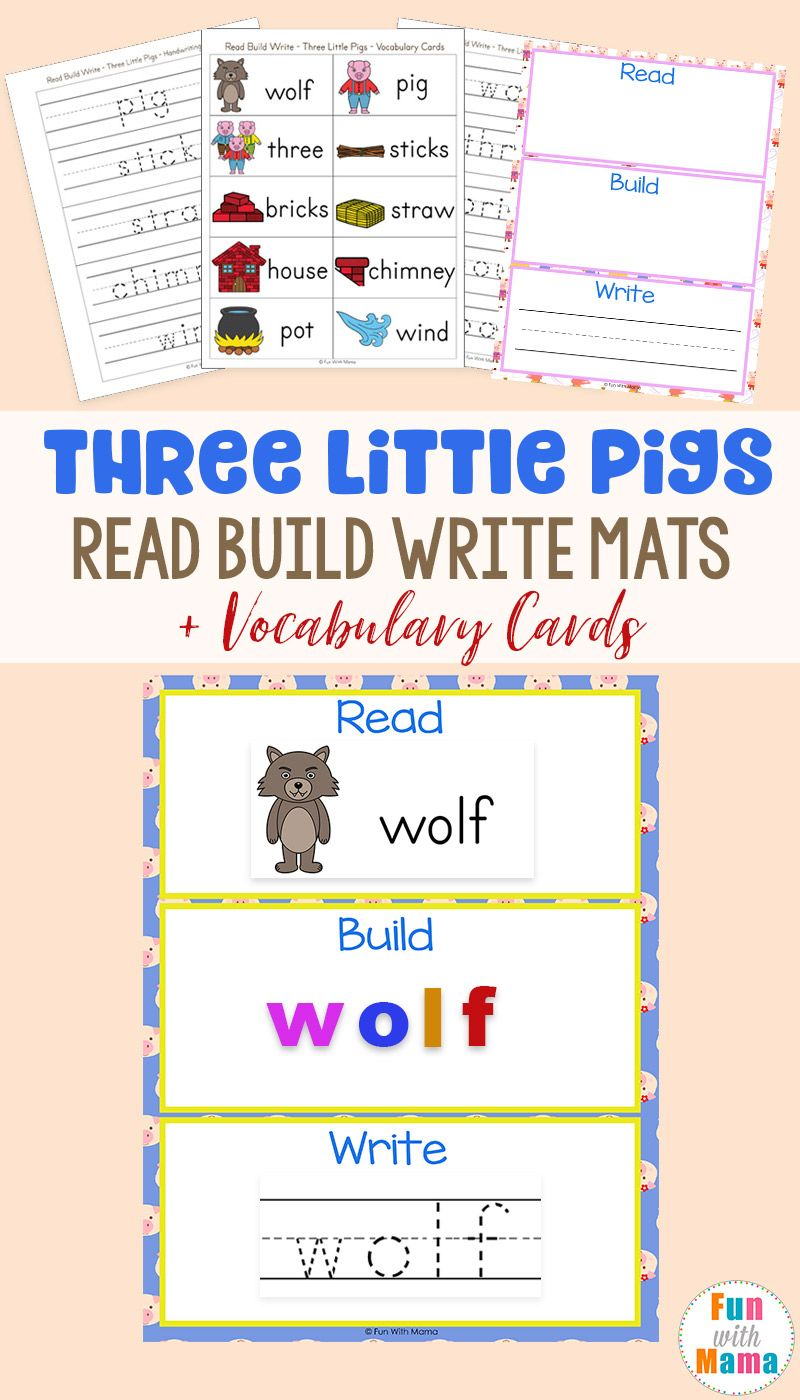 Read Build Write Mats Three Little Pigs Vocabulary Cards Fun With Mama Vocabulary Cards Little Pigs Three Little Pigs [ 1400 x 800 Pixel ]