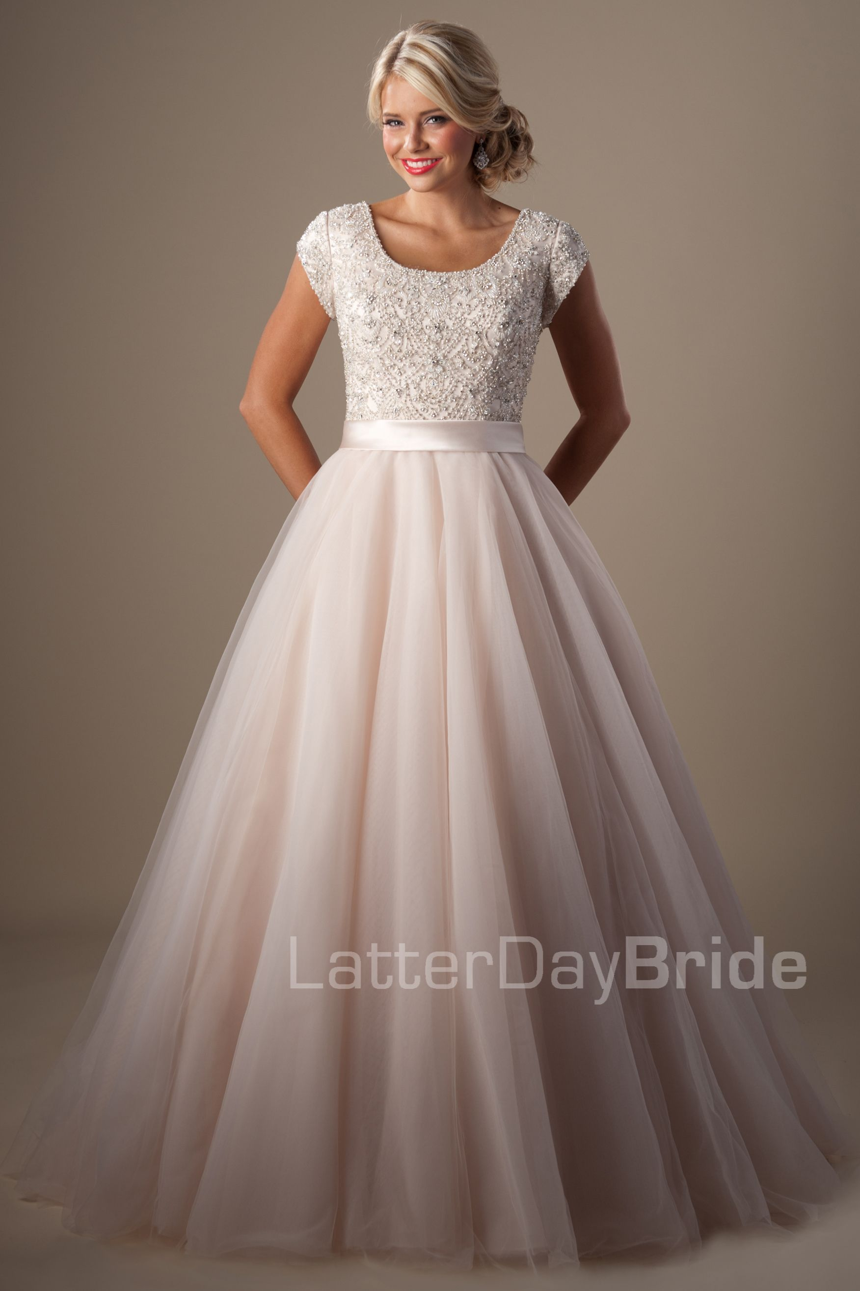 Modest Wedding Dresses : Arquette. Available at Latterday Bride. Go ...