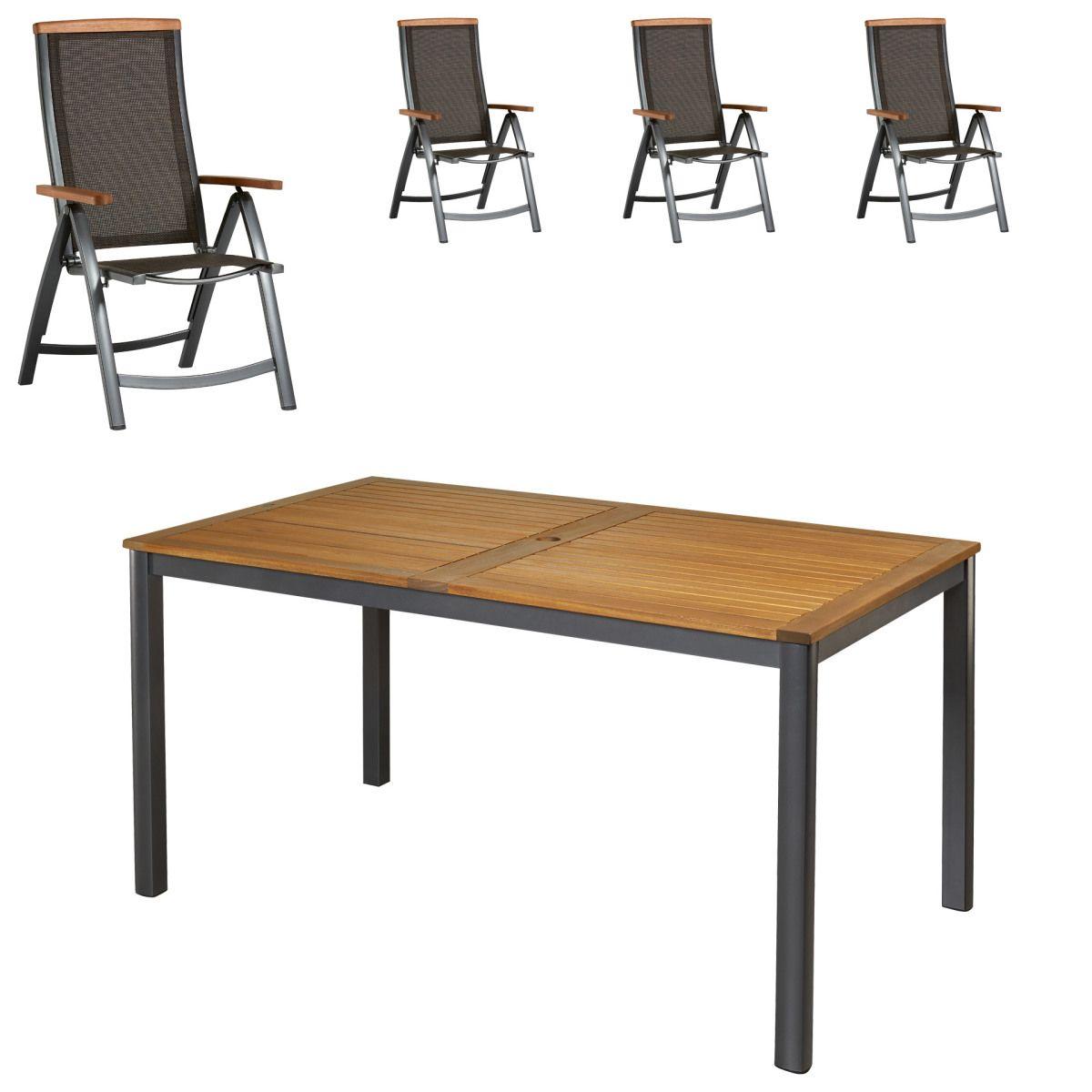 Hochwertig Gartenmöbel Set San Francisco/Santiago (89x150, 4 Stühle) Jetzt Bestellen  Unter