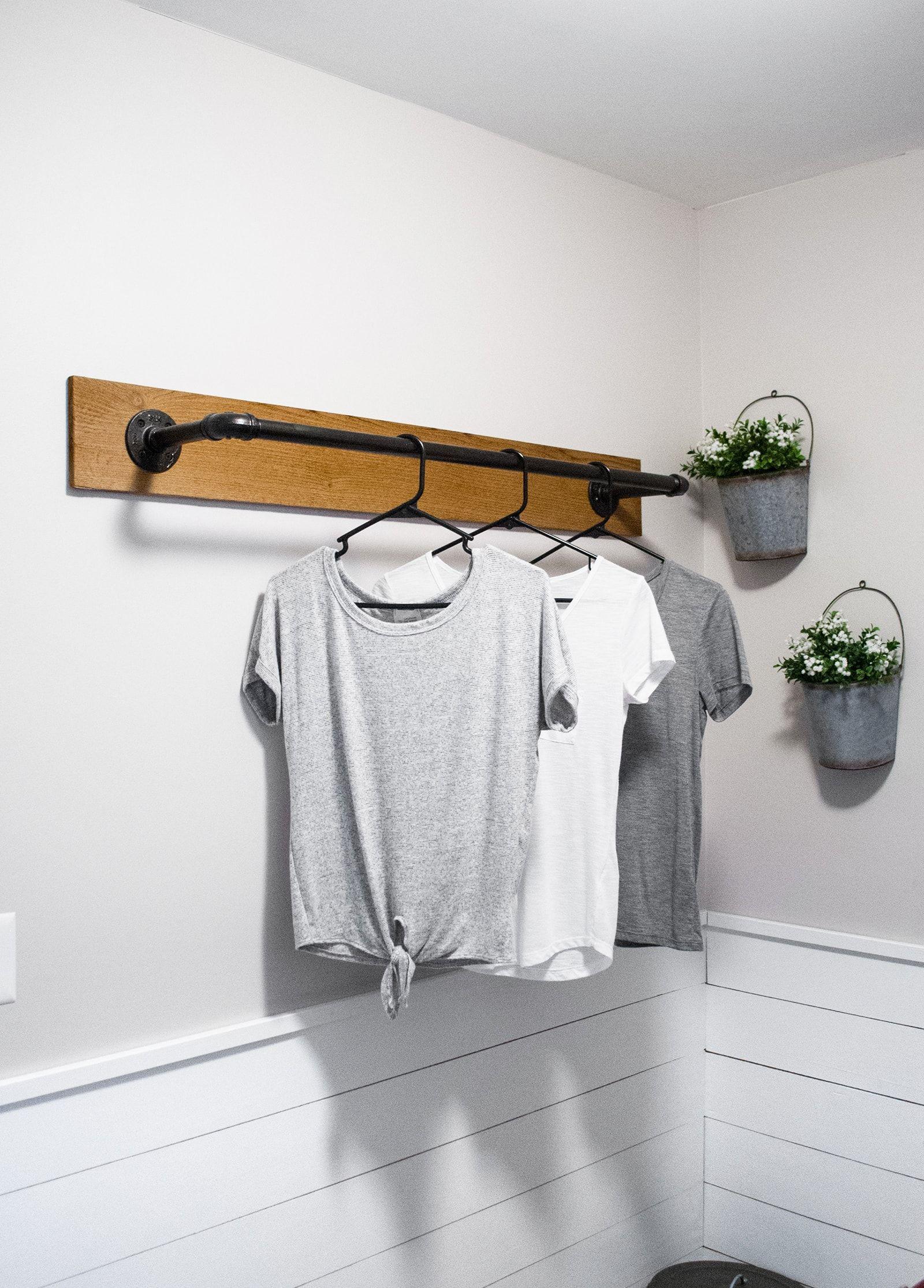 Diy Wall Mounted Clothing Rack Laundry Room Diy Laundry Rack