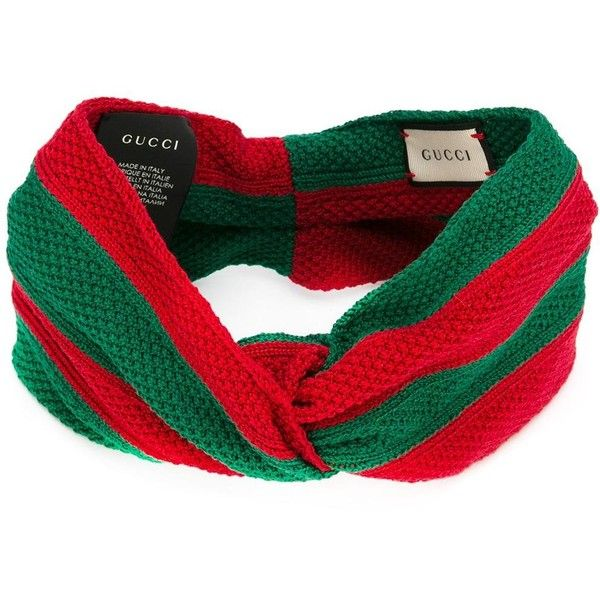 Gucci knitted striped headband ( 365) ❤ liked on Polyvore featuring  accessories 89b81bd4a04