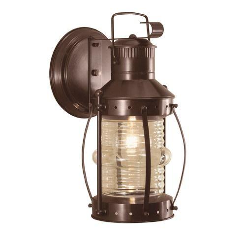 Norwell Lighting Seafarer Bronze Outdoor Wall Light 1108 Br Cl