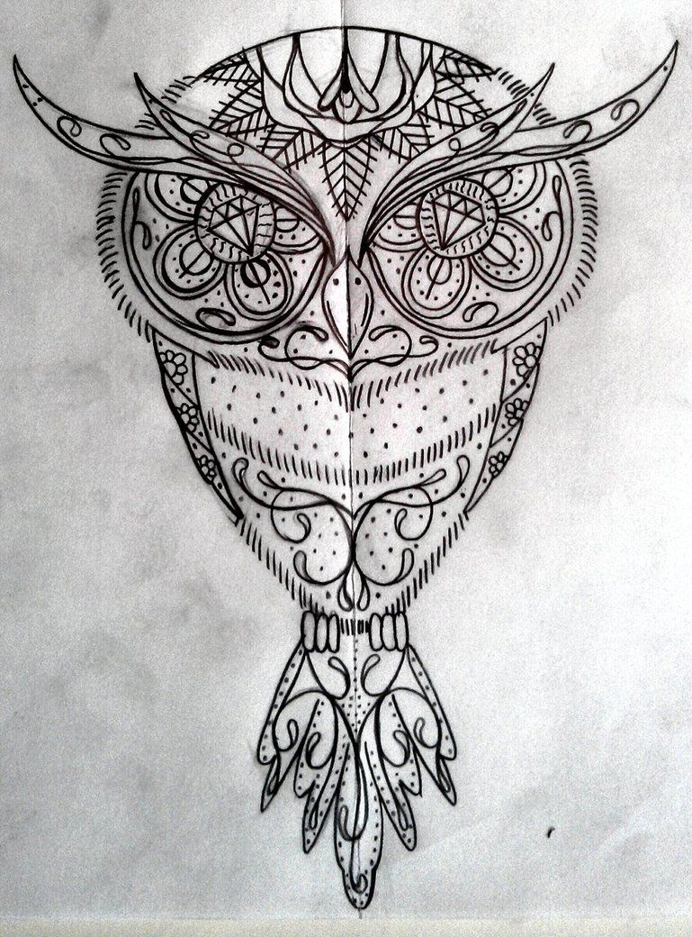 IMAGES OF SUGAR SKULL OWL - Google Search | owls | Tattoos ...