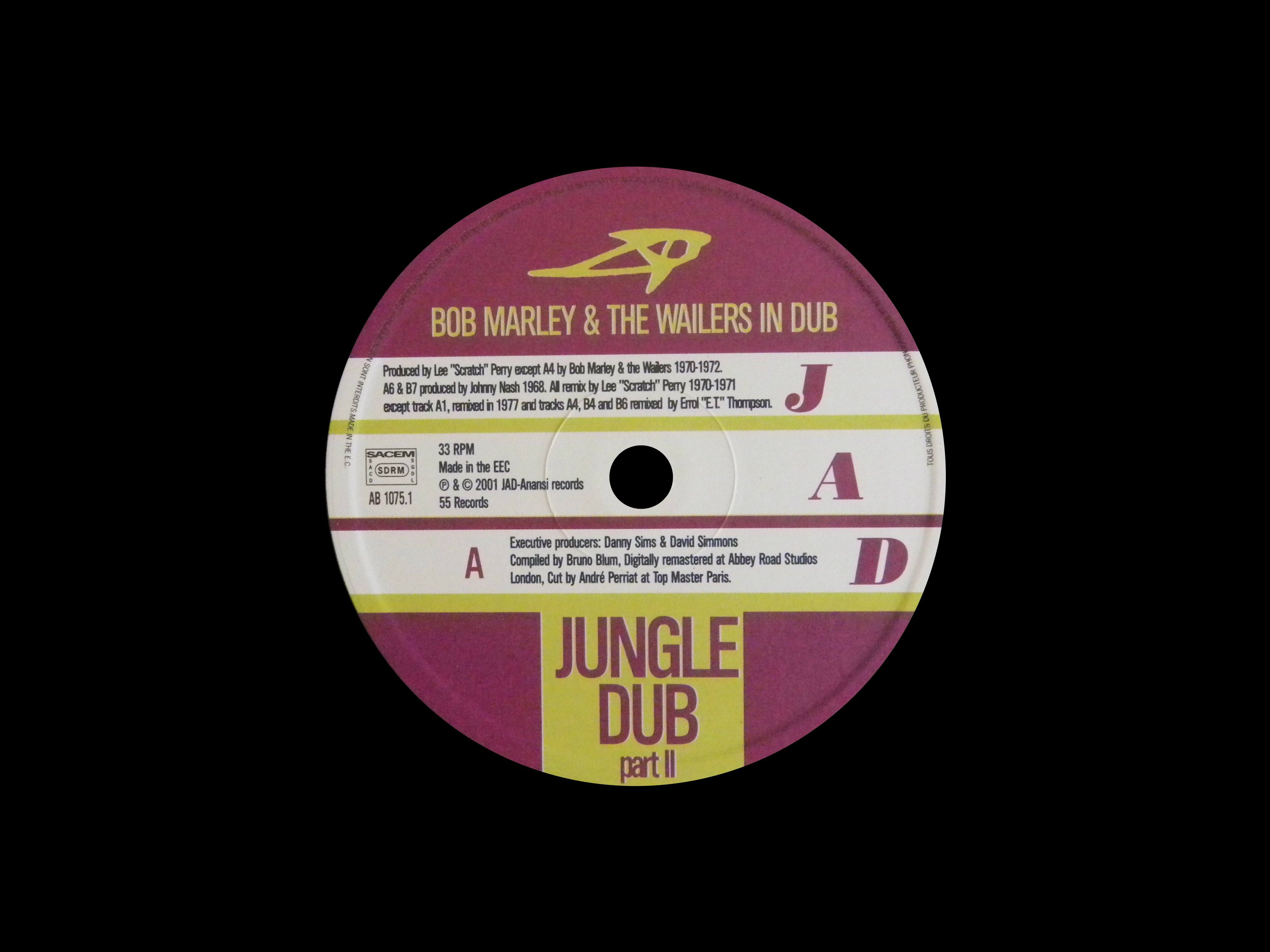 2001 - AB 1075 1   - Jungle Dub Part 2 (The Complete Wailers, Part 3)  - Jad Records