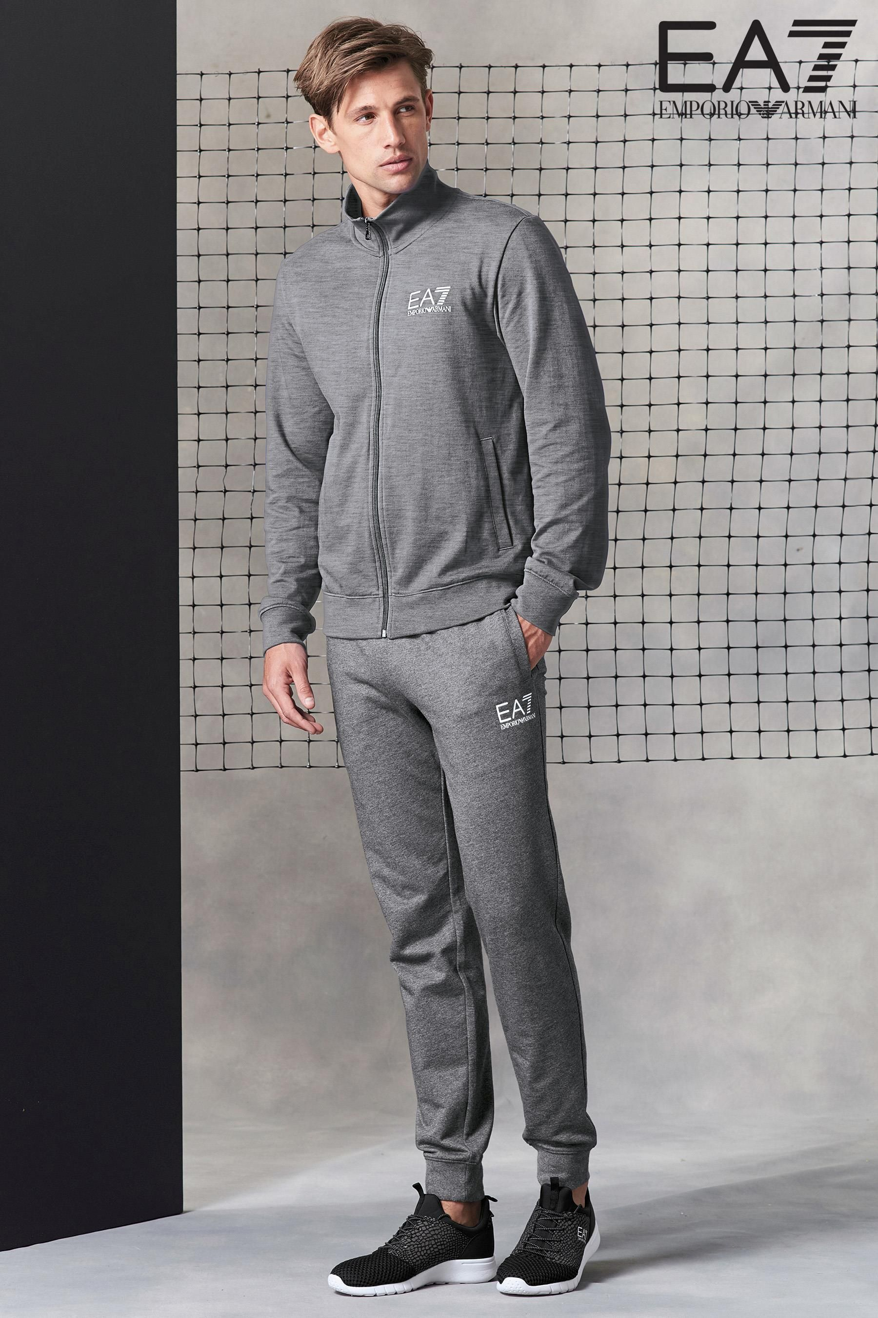 ea7 fleece tracksuit