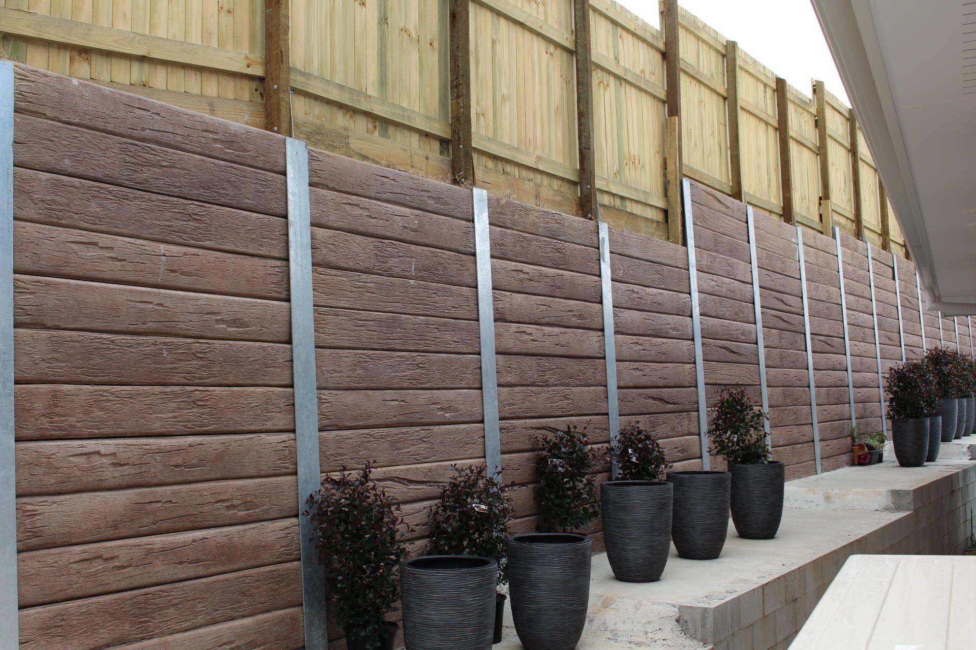 Pioneer Timber Look Concrete Sleeper Amp Steel Gal Post