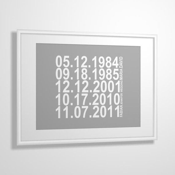 Important dates art print Family Special dates by MiraDoson